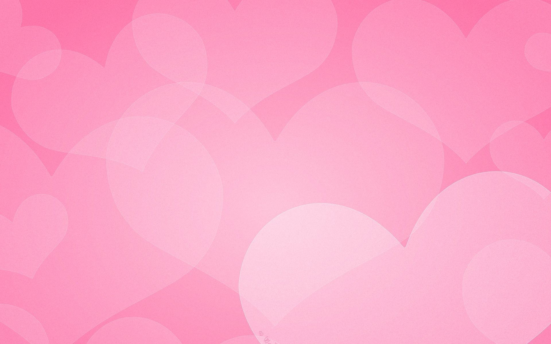 1920x1200, Wallpaper - Pink Background With Hearts Hd - HD Wallpaper