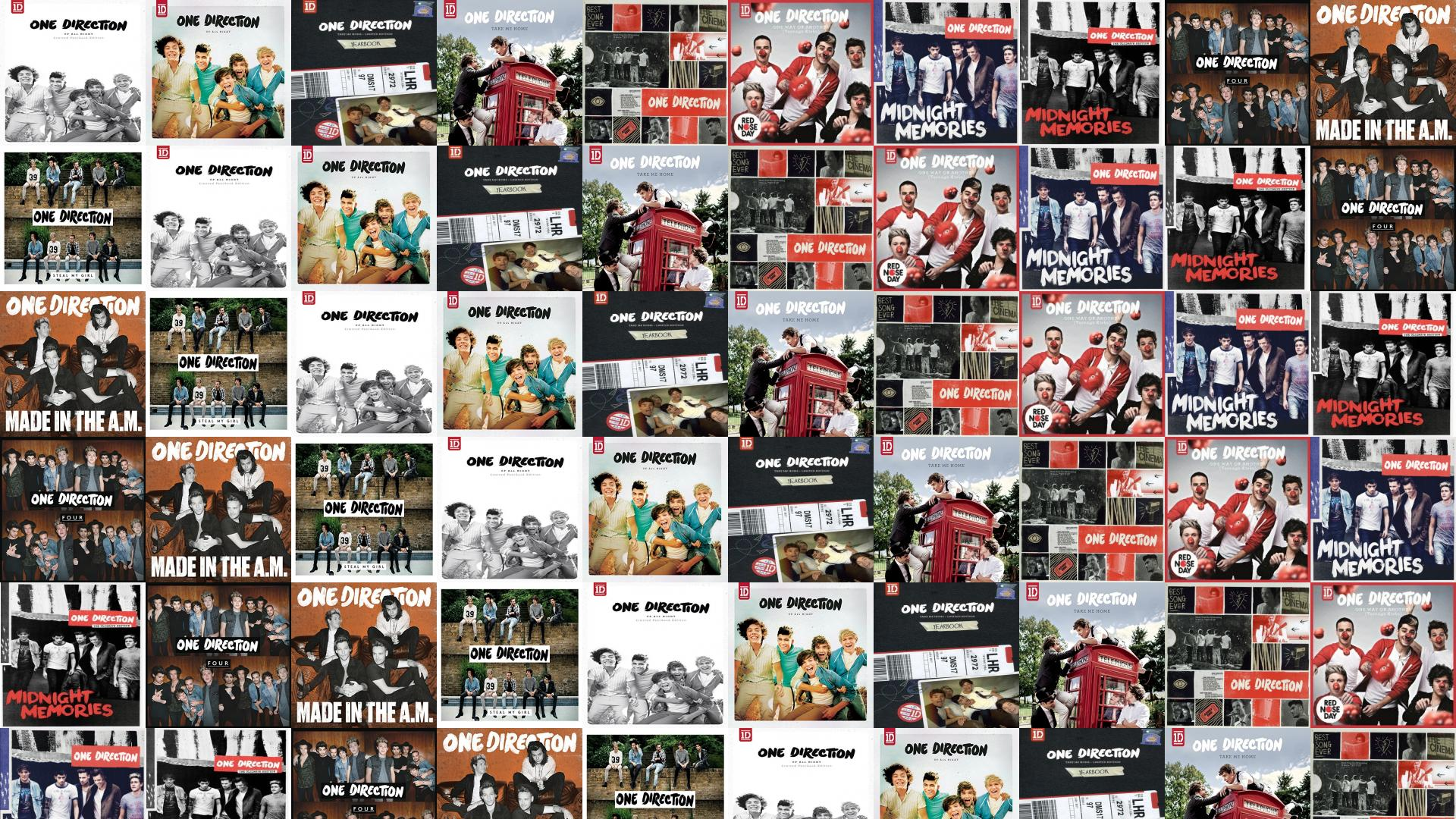 One Direction Albums Collage - HD Wallpaper