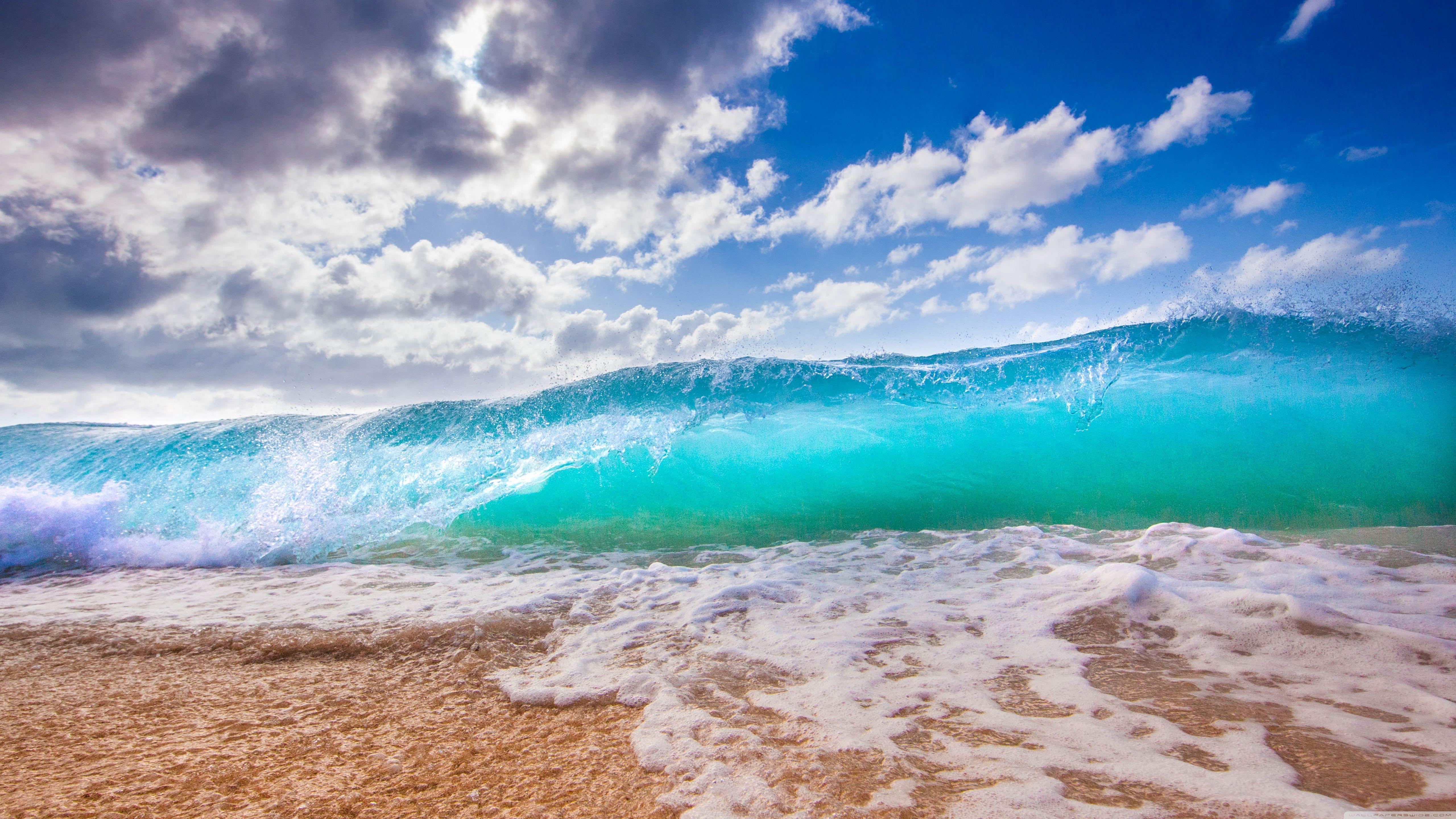 Ocean Waves ❤ 4k Hd Desktop Wallpaper For 4k Ultra - Iphone Wallpaper Hawaii Beach - HD Wallpaper