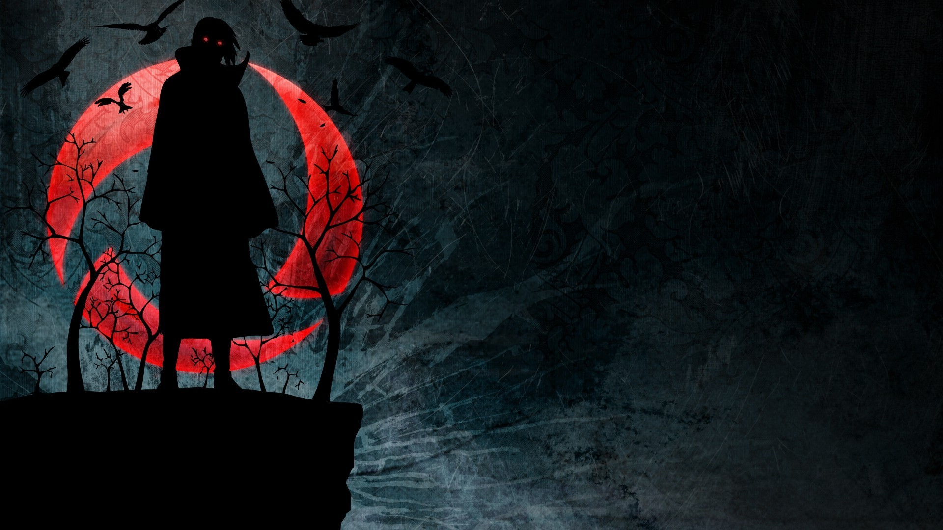 Uchiha Itachi, Naruto Shippuuden, Akatsuki, Silhouette, - Itachi Uchiha Wallpaper 4k - HD Wallpaper
