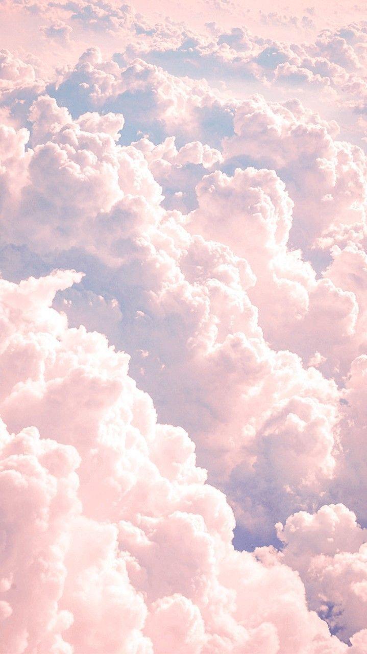 Medium Pastel Cloud Static - Pastel Clouds Background Iphone - HD Wallpaper