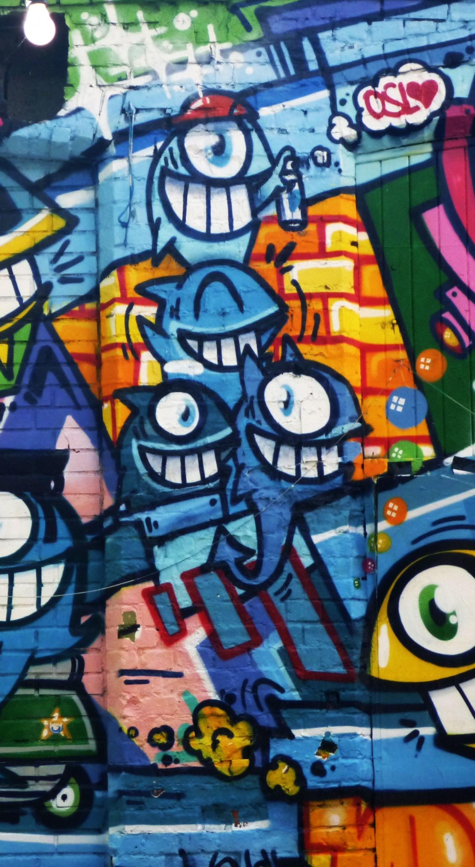 Graffiti Wall Art Bright Street Wall Wallpaper Bright Wallpapers For Iphone 8 1440x2630 Wallpaper Teahub Io