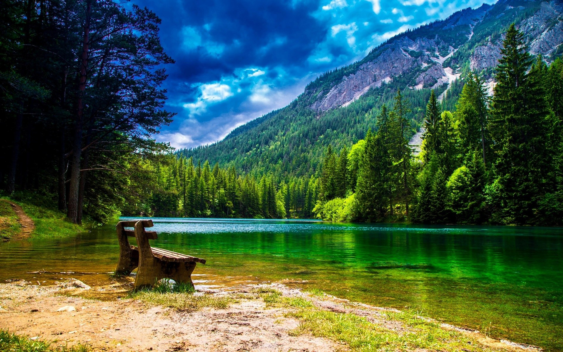 Wonderful Mountain Landscape With Green Pine Forest - Wonderful Of Green Nature - HD Wallpaper