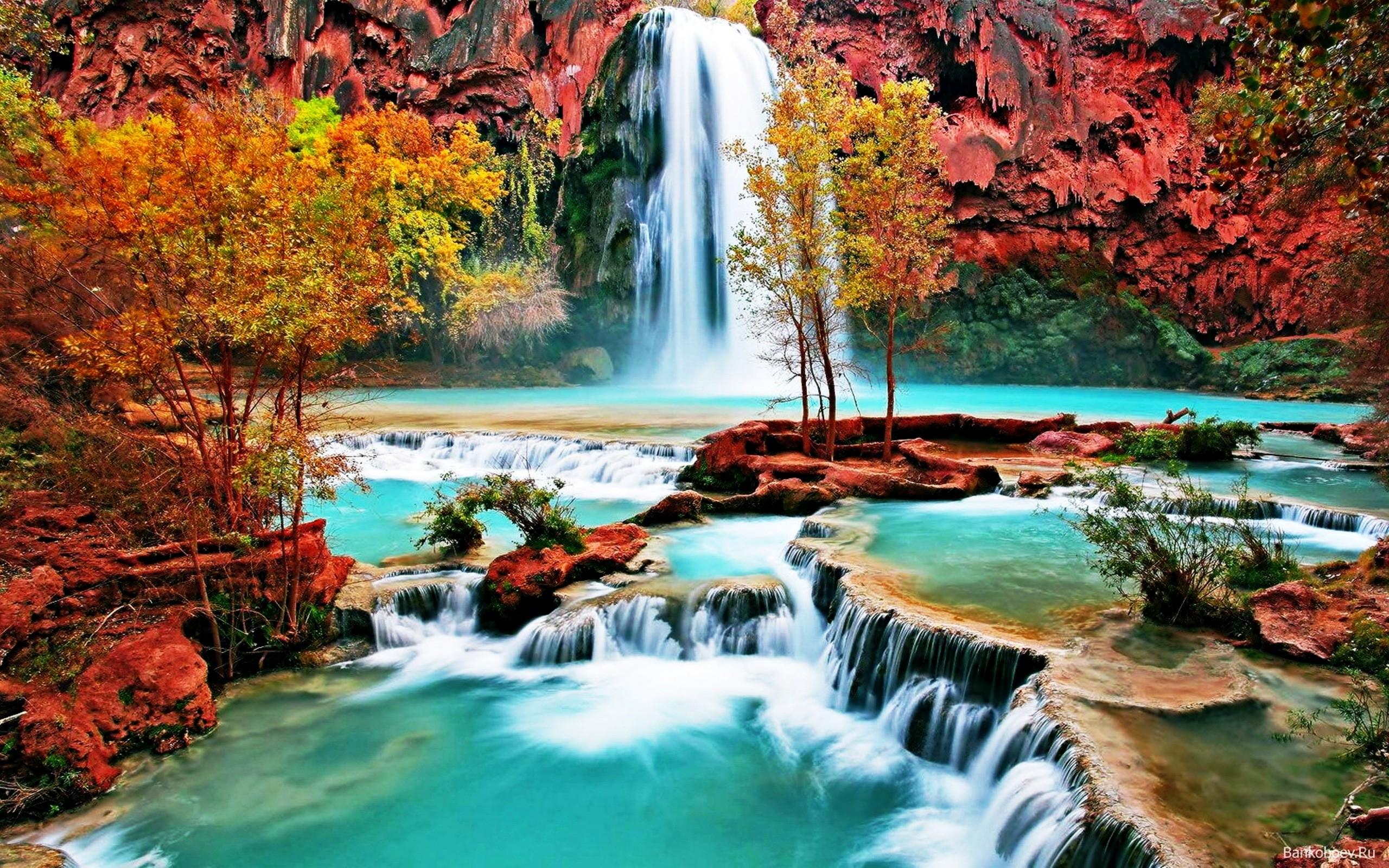 Download Beautiful Nature Wallpaper 1080p - Havasu Falls - HD Wallpaper