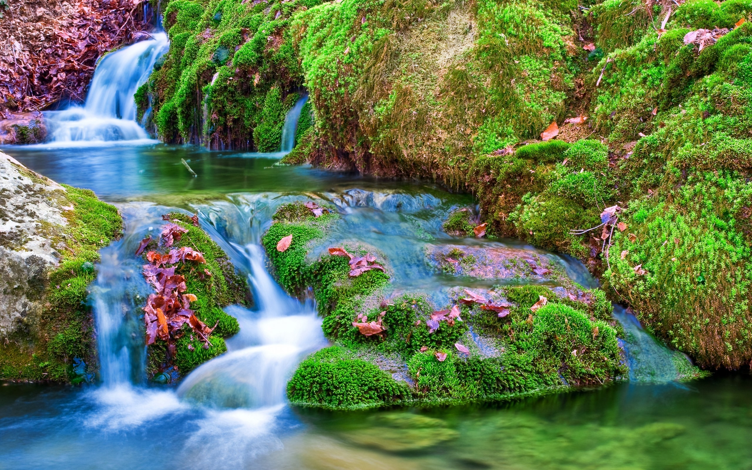 Download Src Waterfall Background Pictures Laptop Nature Waterfall Wallpaper Hd 2560x1600 Wallpaper Teahub Io