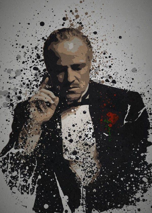Don Vito Corleone Godfather - HD Wallpaper