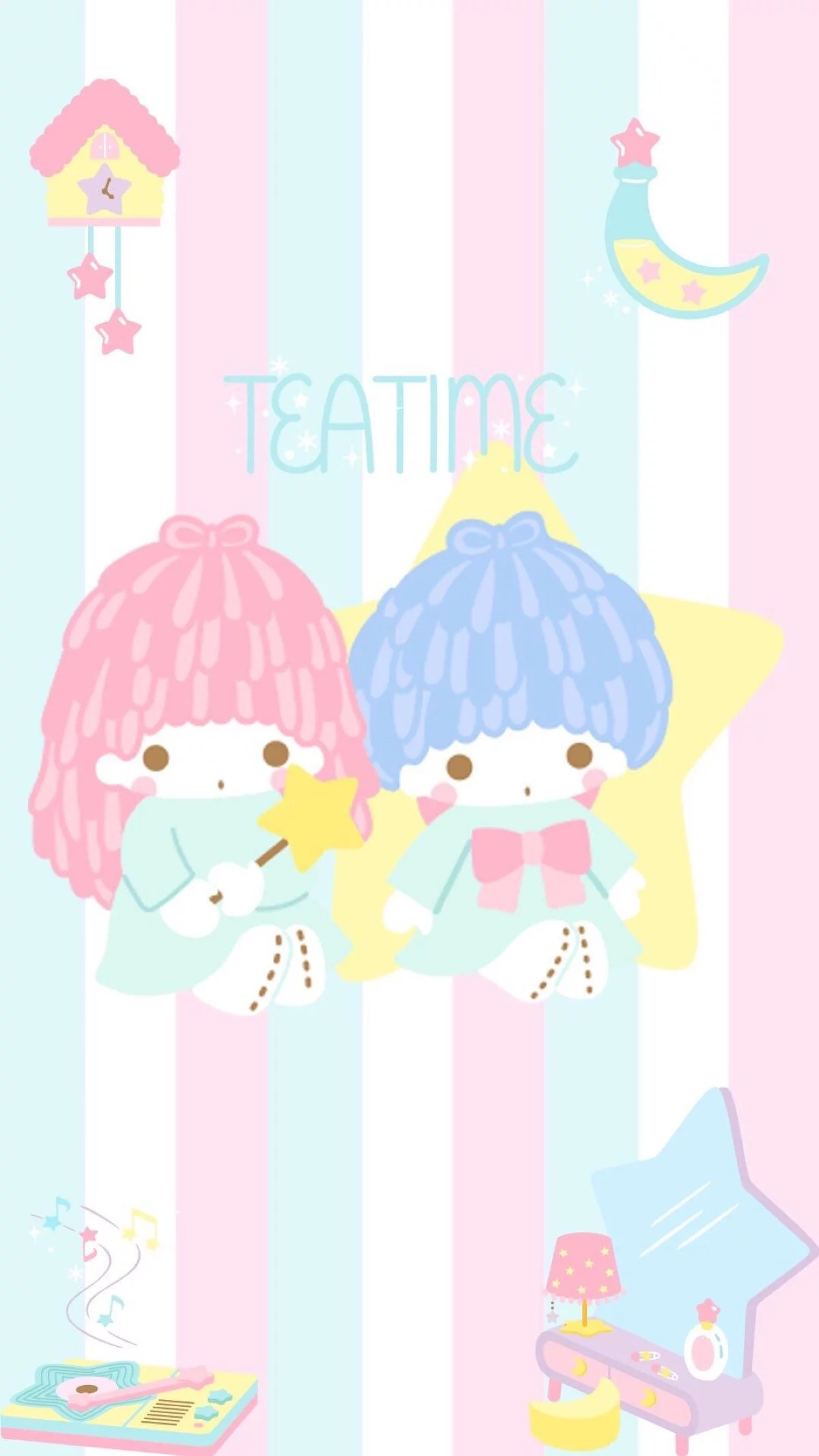 Sanrio Wallpaper, Iphone Wallpaper, Sanrio Characters, - Phone Wallpaper Little Twin Stars - HD Wallpaper