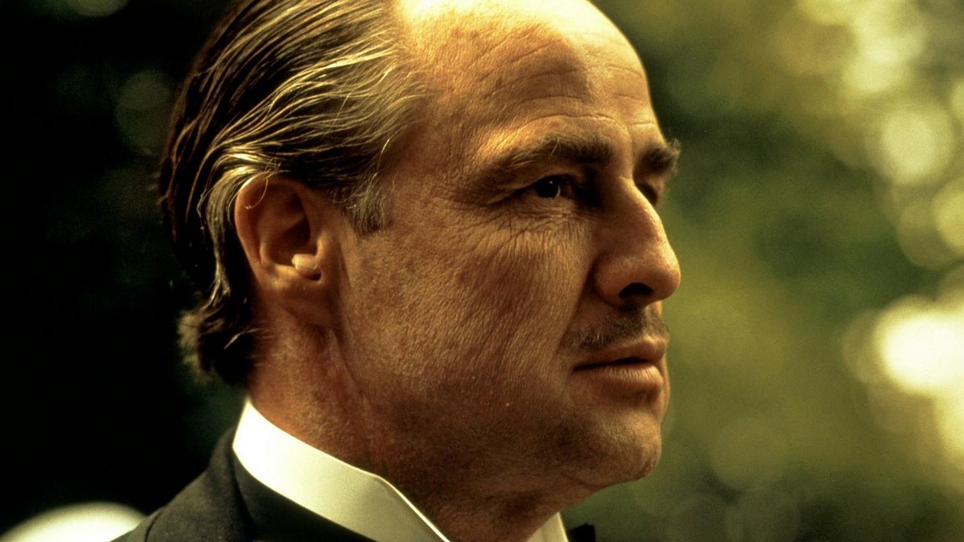 Wallpaper Godfather, Old, Face, Marlon Brando, Don - Godfather Robert De Niro - HD Wallpaper