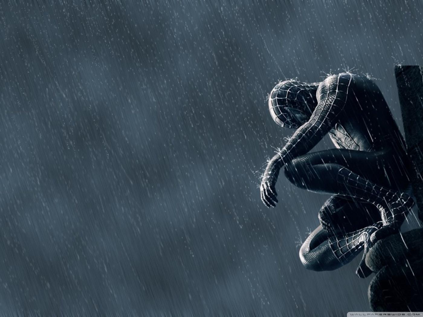 Hd Spiderman Black Suit - HD Wallpaper