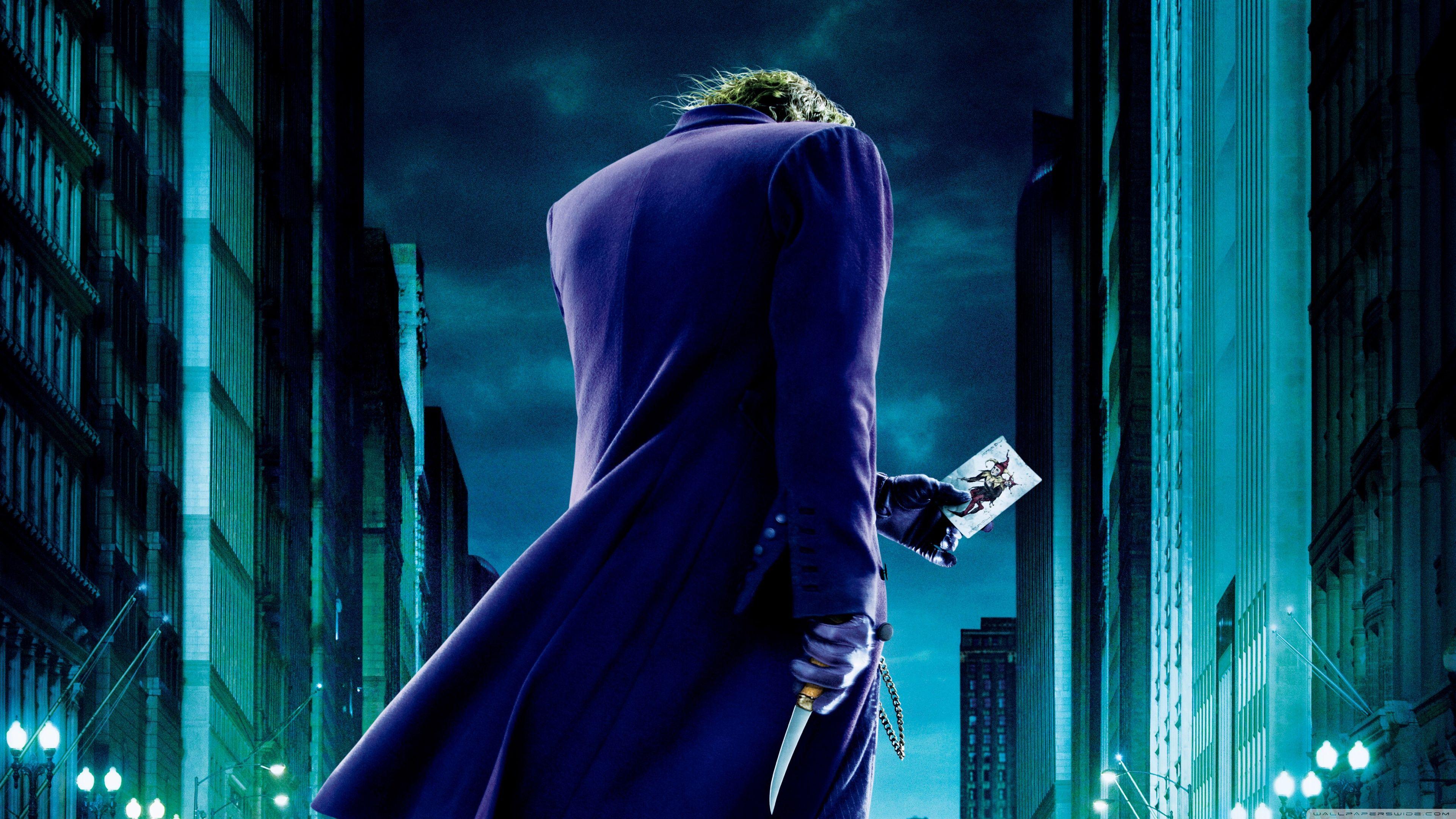 The Joker The Dark Knight 4k Hd Desktop Wallpaper Batman The Dark Knight Wallpaper Joker 3840x2160 Wallpaper Teahub Io