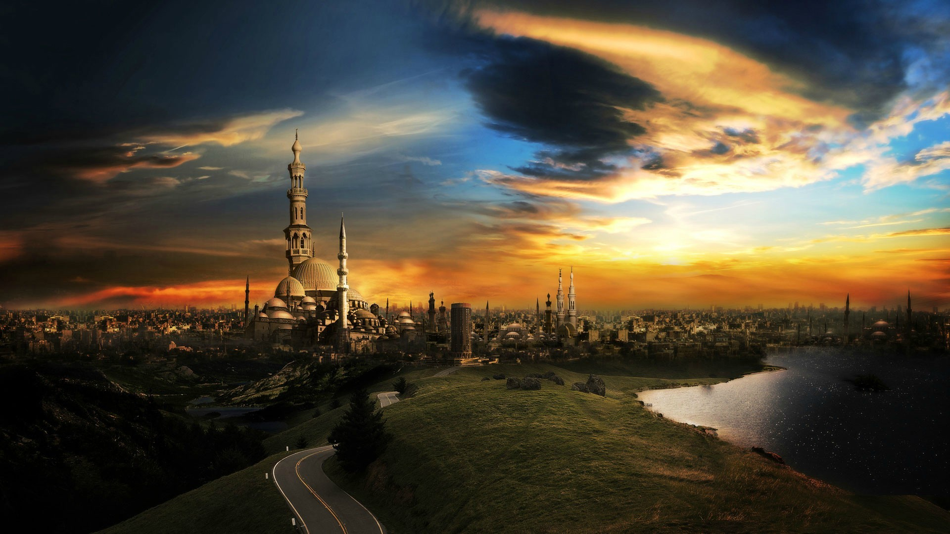 1080p Pc Wallpapers Hd Desktop Wallpapers Cool Images - City Of Thousand Minarets - HD Wallpaper