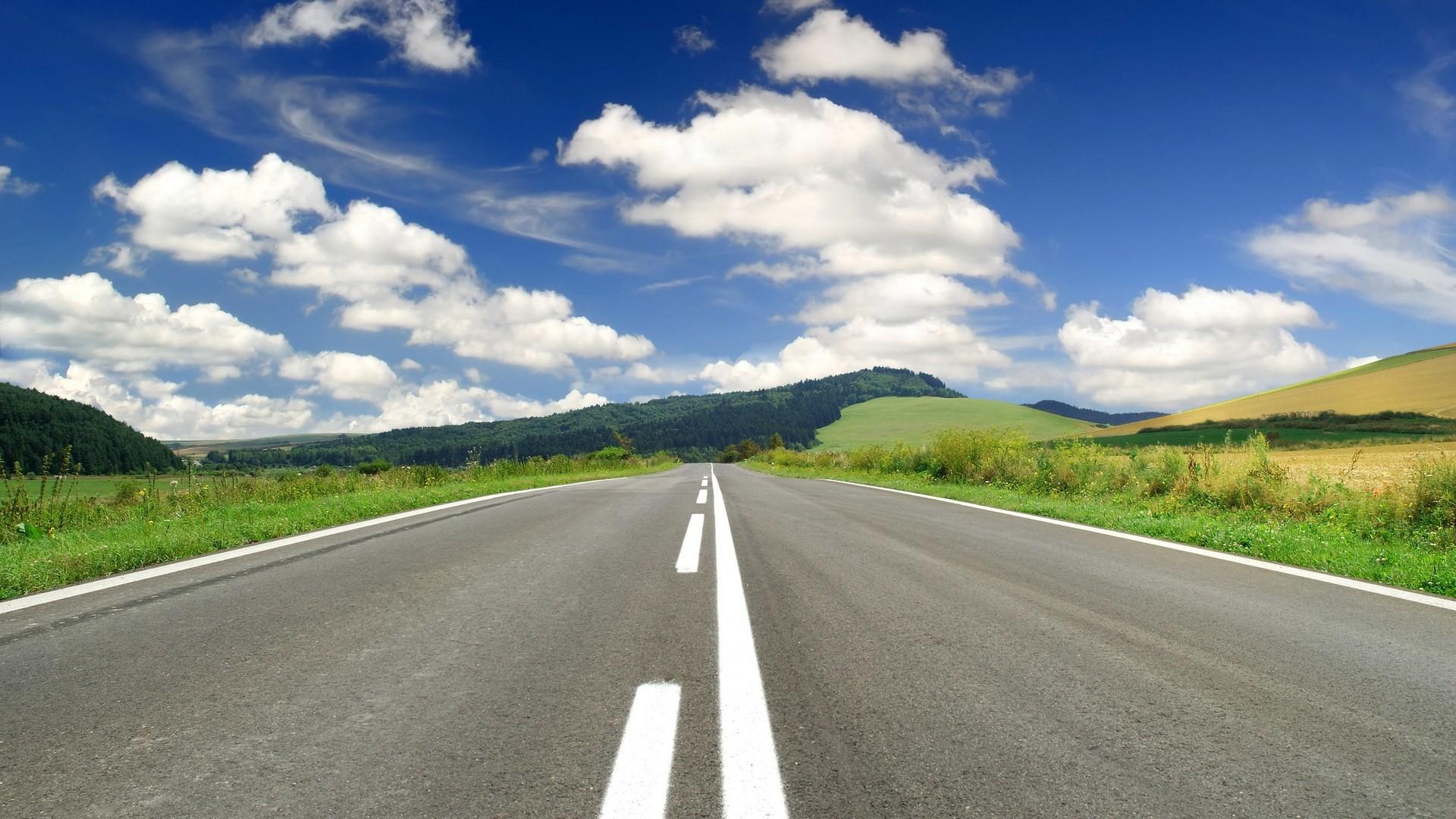 Pc Wallpaper Hd 1080p Nature Wallpaper   Data-src - Empty Road - HD Wallpaper