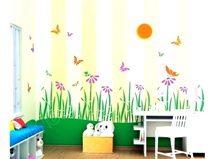 Baby Room Wall Painting Ideas Bedroom Painting Ideas - Kids Room Painting - HD Wallpaper