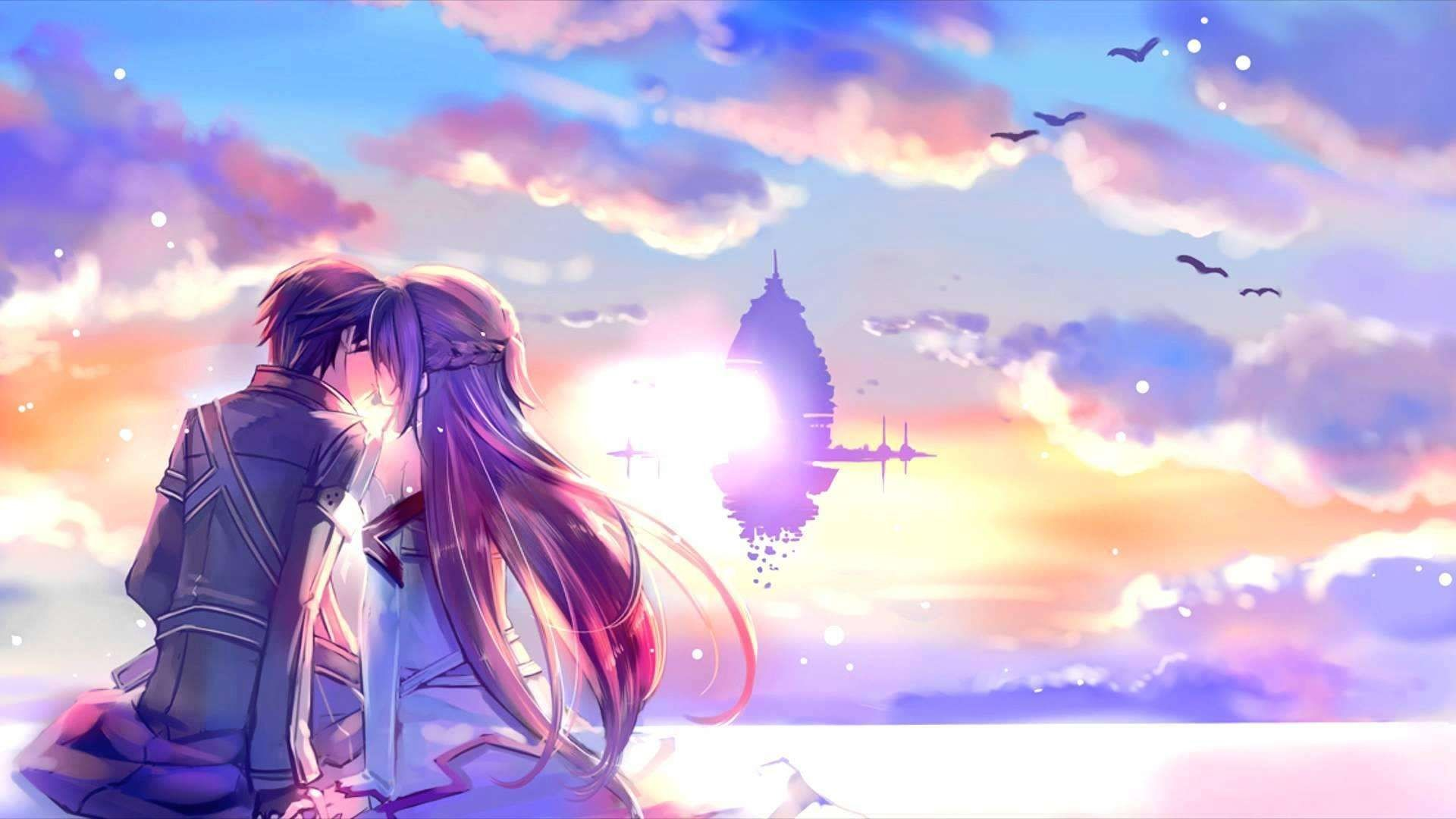 1920x1080, New Anime Love Wallpaper Hd 1080p At Hdwallwide - Love Wallpaper Anime - HD Wallpaper