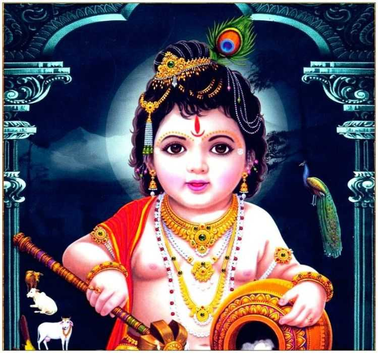 Whatsapp Dp Wallpaper Shri Love Radha Baby Cute Krishna - Laddu Gopal Good Morning - HD Wallpaper