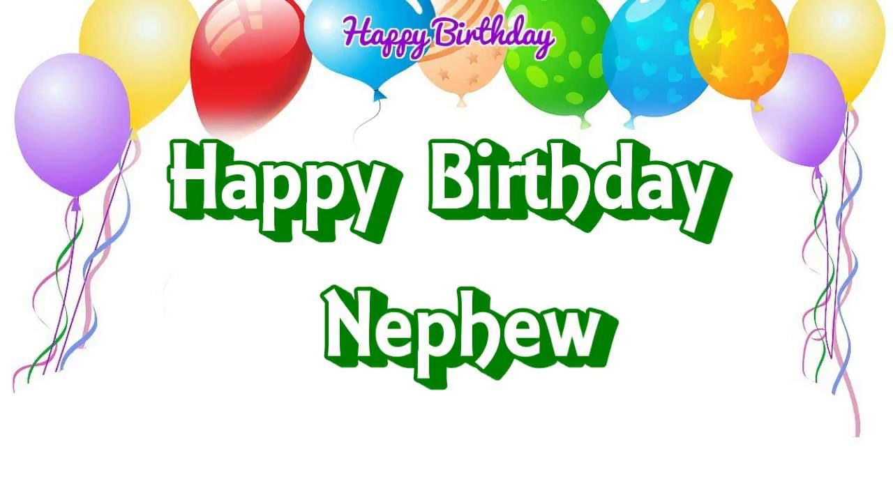 Happy Birthday Nephew Simple Wishes