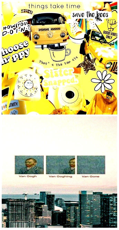 Tumblr Wallpapers Aesthetic Yellow Collage Lockscreen 690x1330 Wallpaper Teahub Io