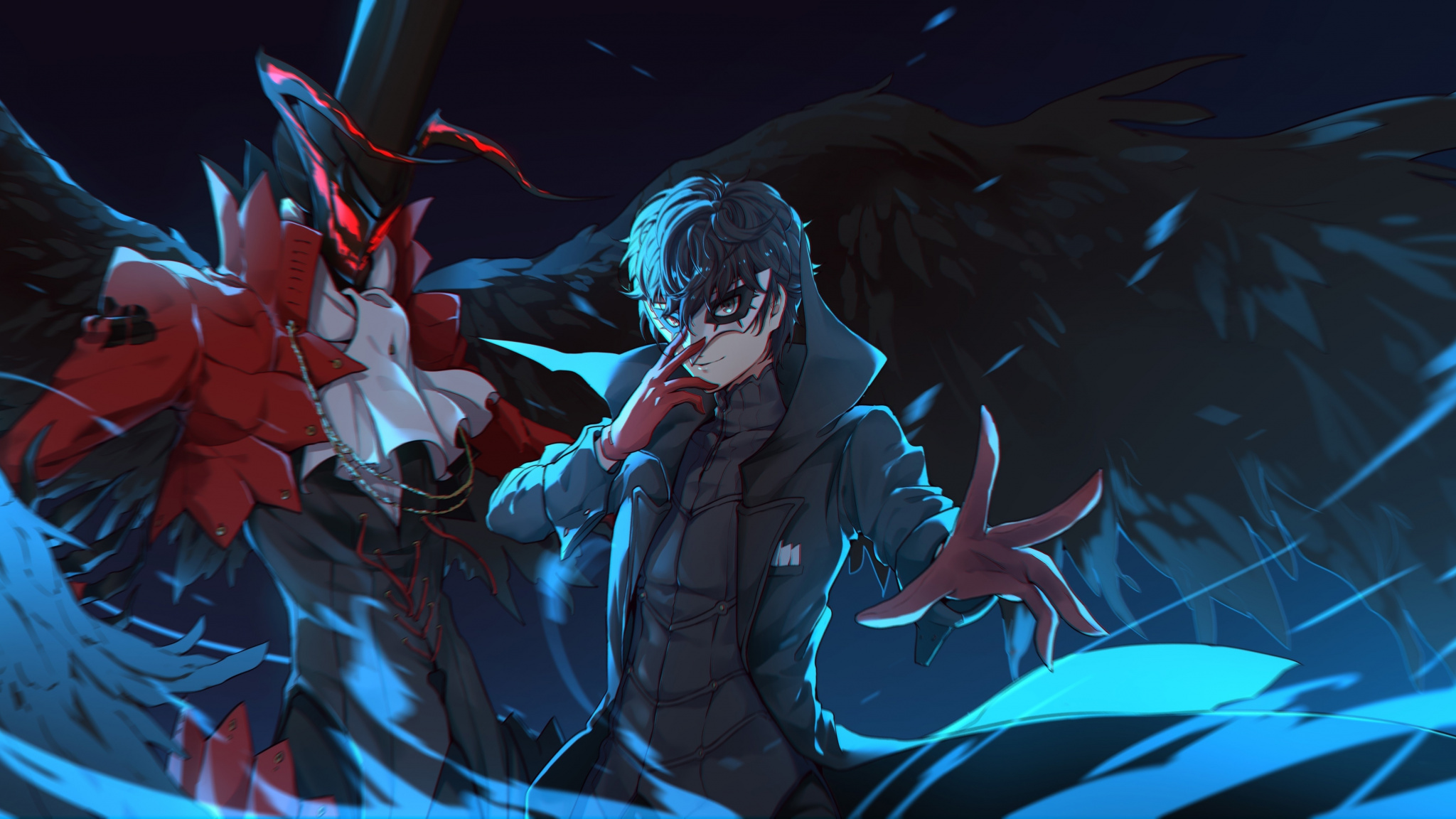 Akira Kurusu Anime Persona 5 Art Wallpaper 1080 X 2160 Wallpaper Anime 2048x1152 Wallpaper Teahub Io