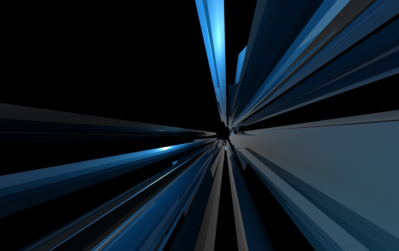 Abstract Blue Lines - HD Wallpaper