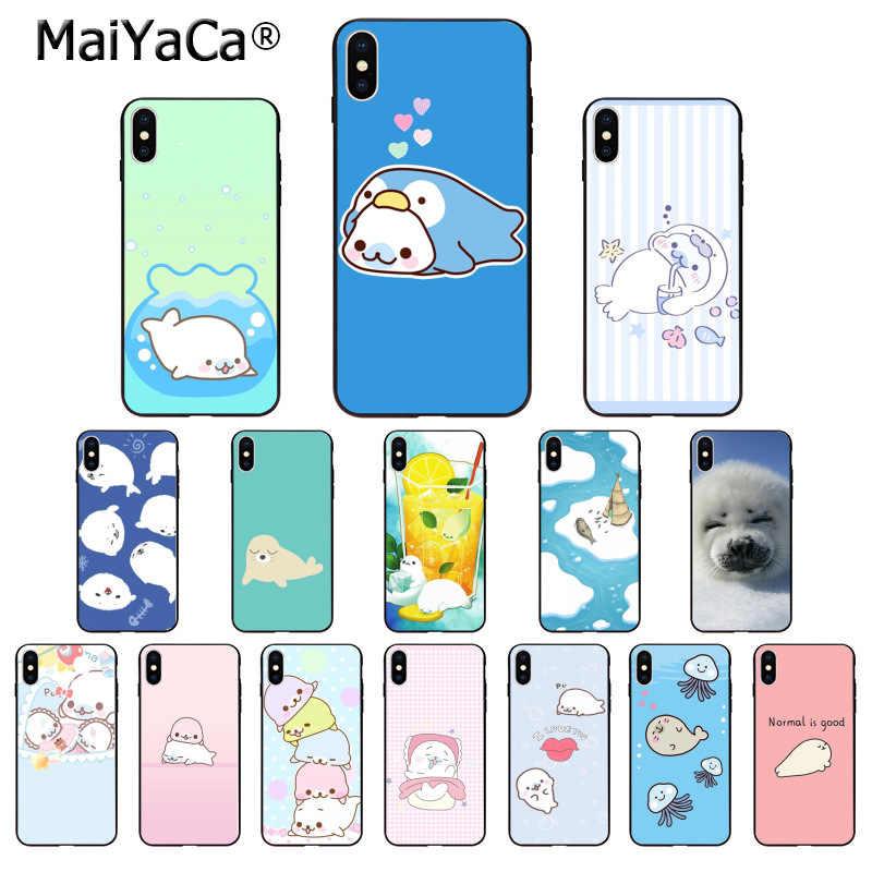 Maiyaca Cute Animal Seal Mamegoma Smart Cover Black - Mamegoma Phone Case - HD Wallpaper