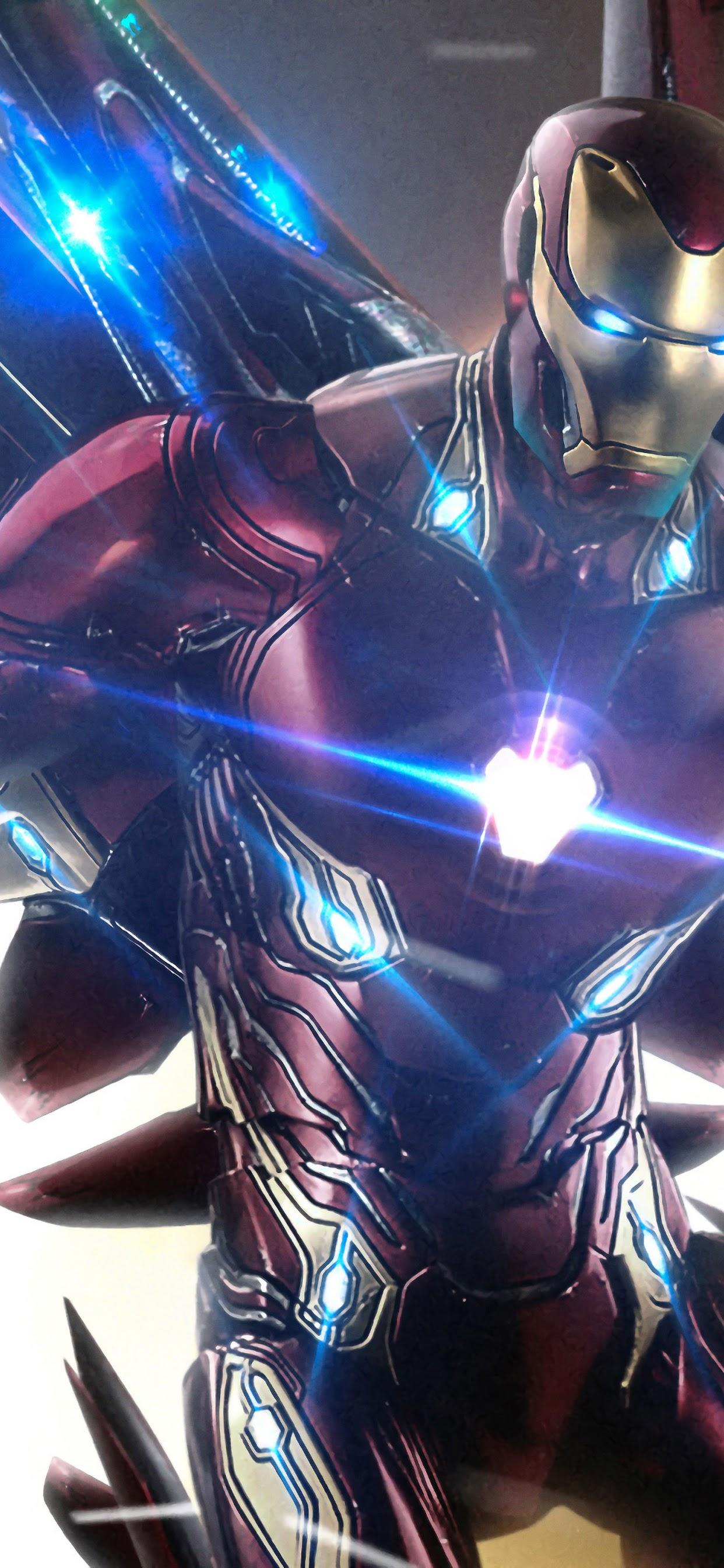 Iron Man Infinity Stones Avengers Iron Man In Endgame 1242x2688 Wallpaper Teahub Io