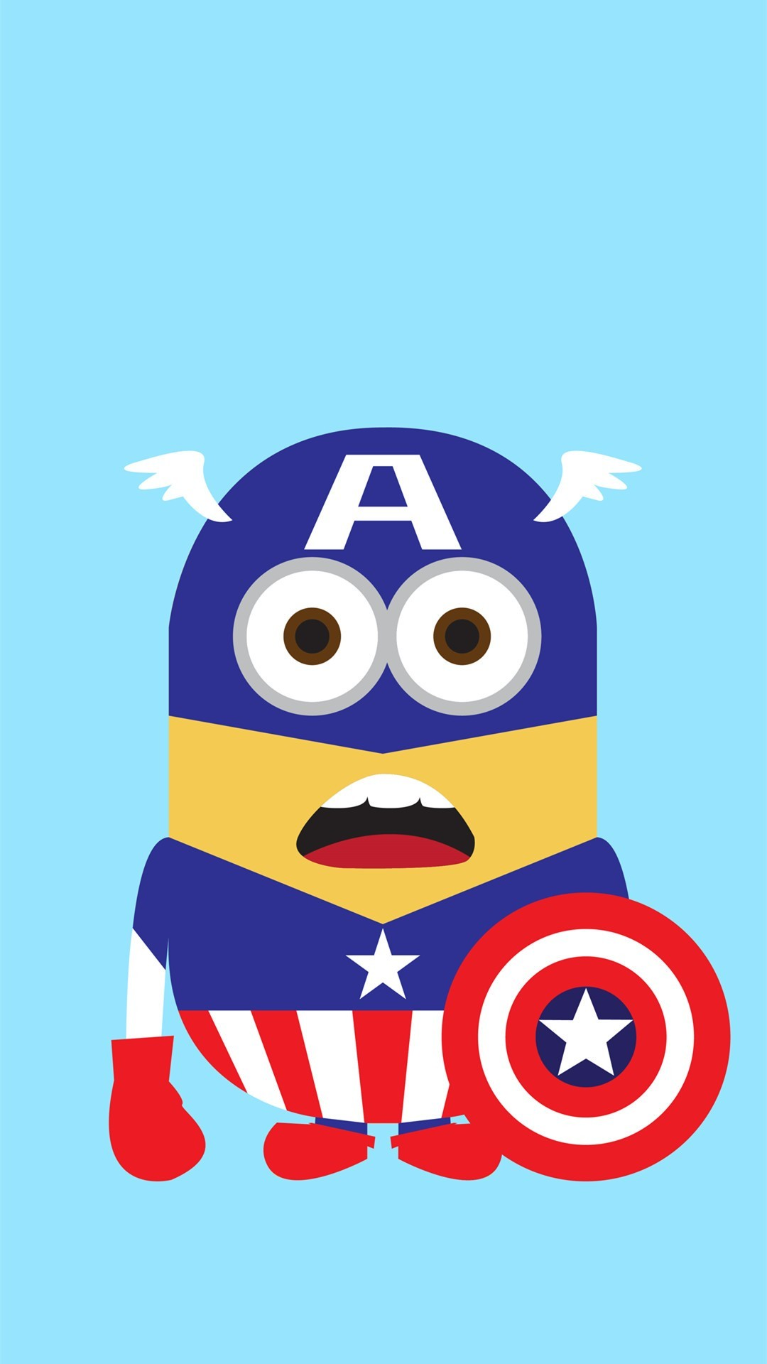 Despicable Me Inspired Captain America Minion Iphone - Minion Captain America - HD Wallpaper