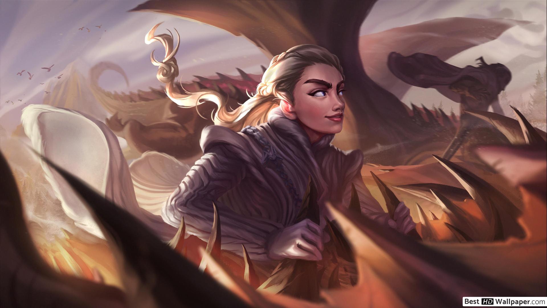 Game Of Thrones Daenerys Fan Art - HD Wallpaper