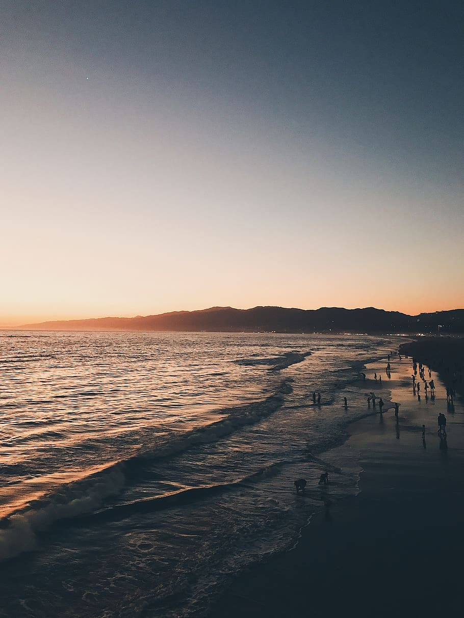 United States, Santa Monica, Sunset, Beach, California, - Santa Monica Beach Iphone - HD Wallpaper