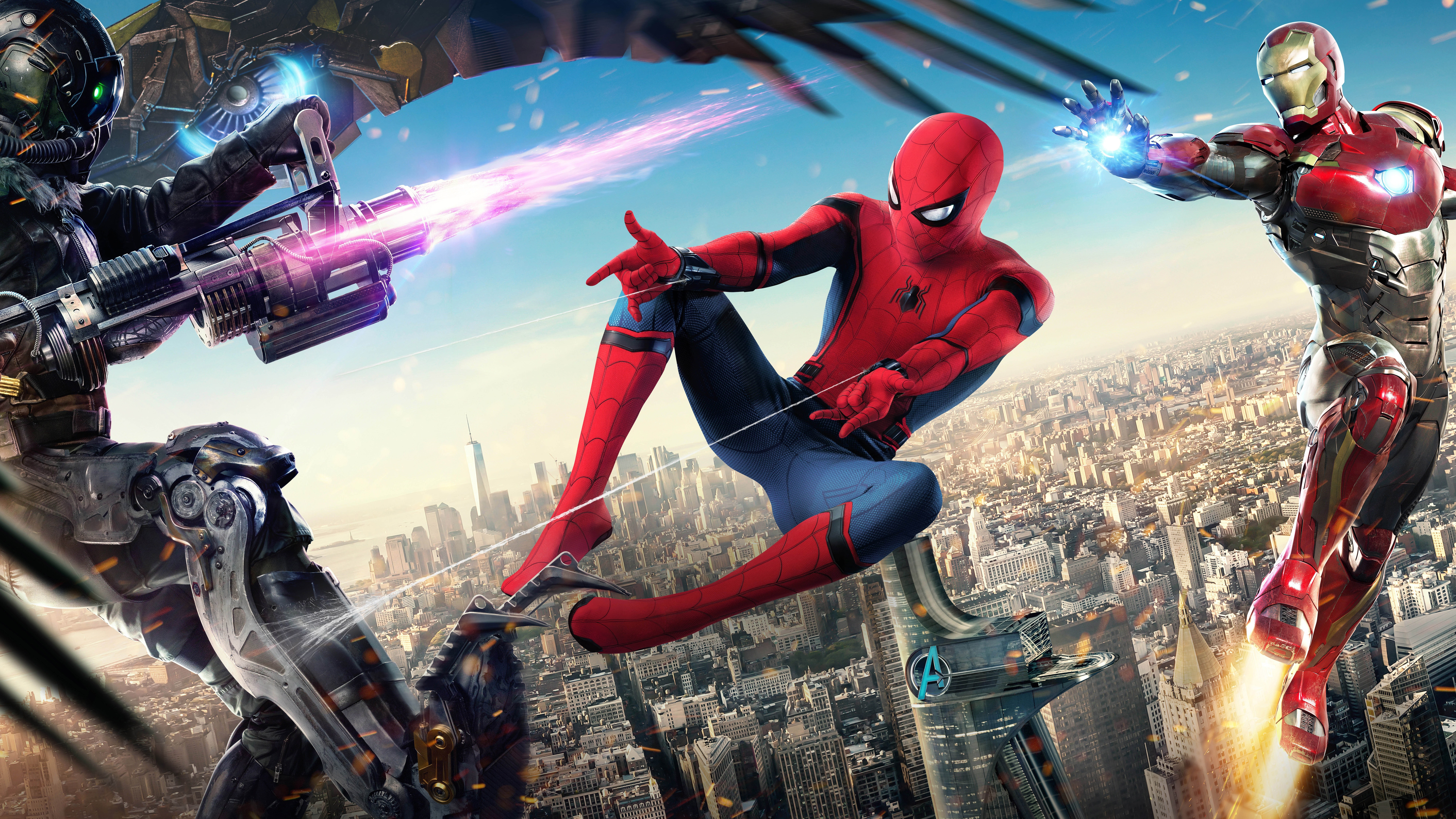 Homecoming Iron Man Marvel Superheroes Spider Man Far From Home 7680x43 Wallpaper Teahub Io