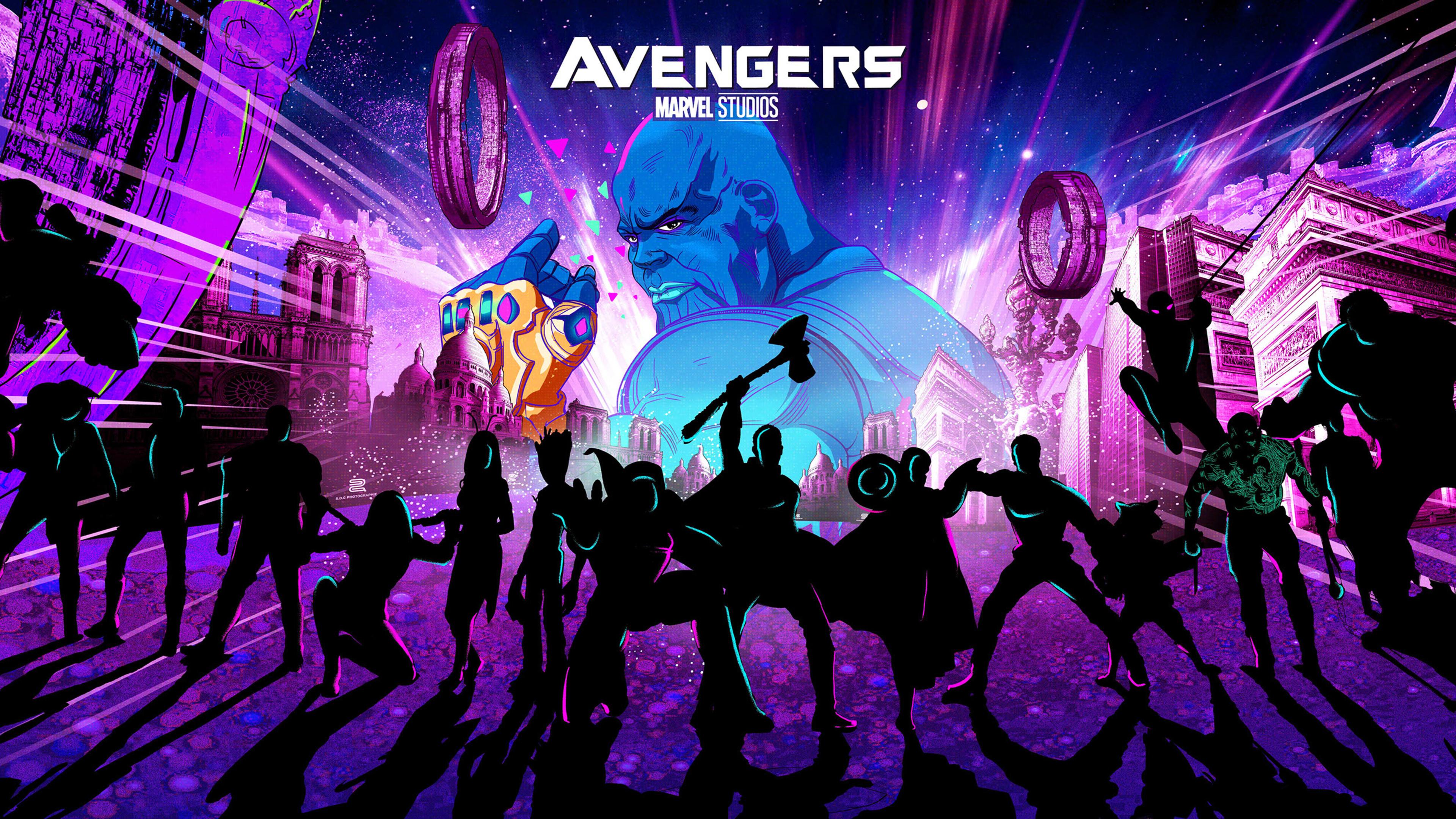 Avengers Endgame New Artwork 4k Avengers Endgame Wallpaper Art 3840x2160 Wallpaper Teahub Io