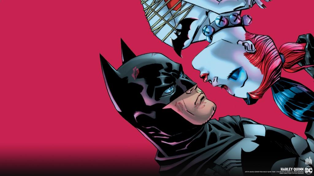 Harleyquinn Wall Joker Fond D Ecran Comics 1024x576 Wallpaper Teahub Io