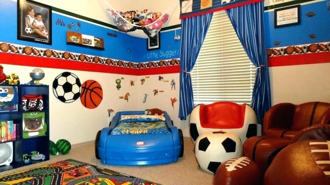 Sports Themed Bedroom Decor Nice Pictures Ideas Wallpaper - Toddler Sports Bedroom Ideas - HD Wallpaper