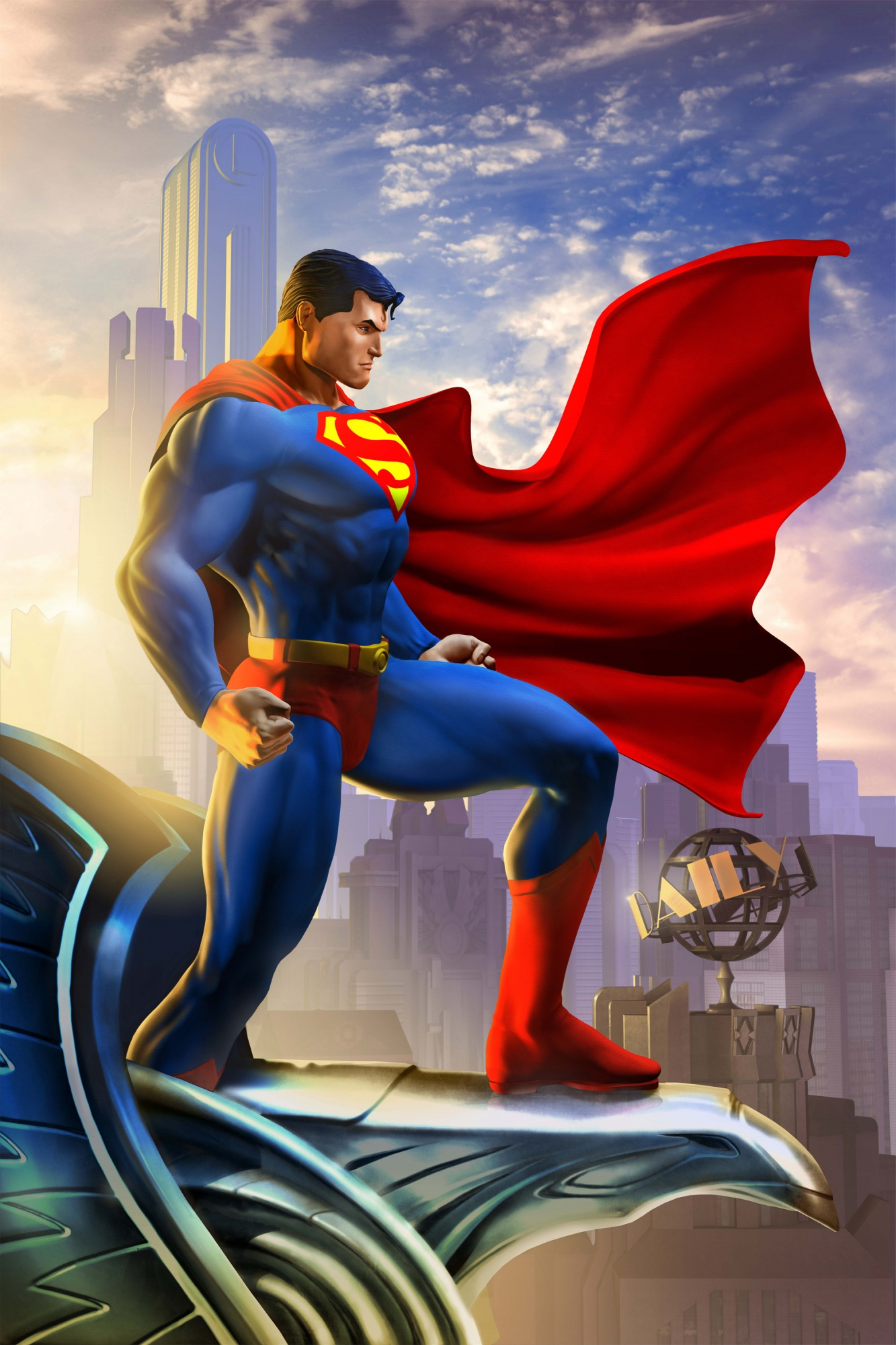 Dc Universe Online Full Hd Superman Hd Wallpaper For Mobile 1333x2000 Wallpaper Teahub Io