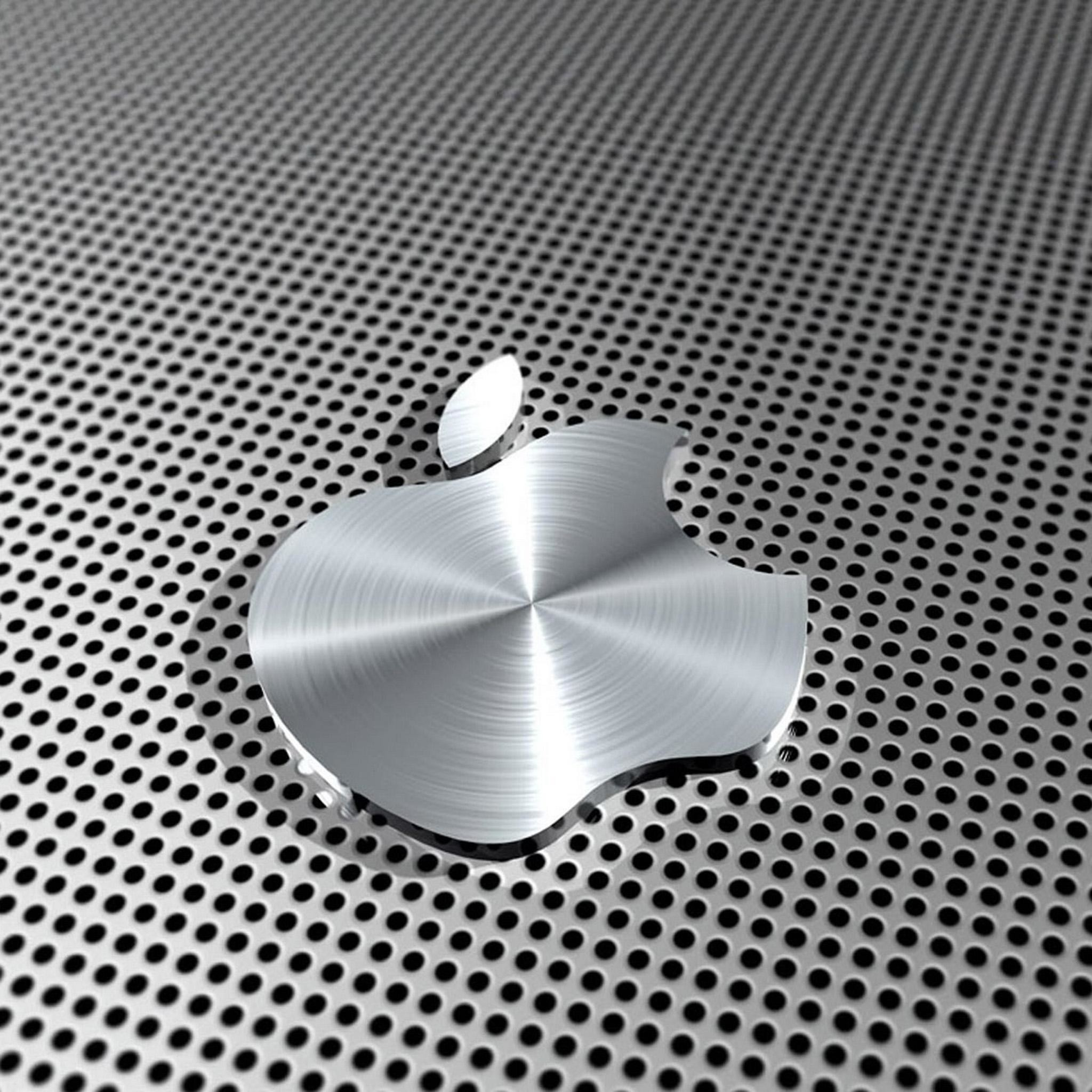 Ipad Retina Hd Wallpaper Apple Logo In Steel Data Src 1 World Financial Center 2048x2048 Wallpaper Teahub Io