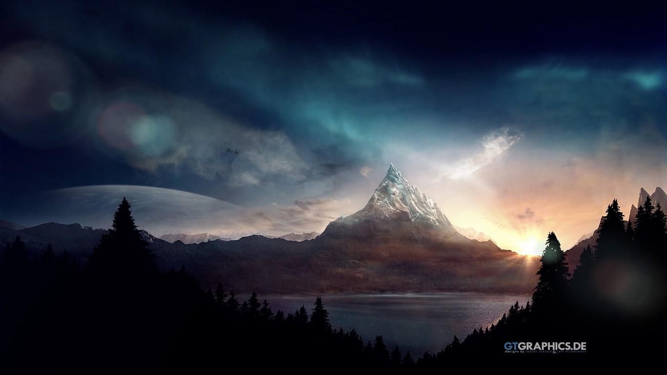Windows Vista Wide Wallpapers Lord Of The Rings Rainmeter 1366x768 Wallpaper Teahub Io