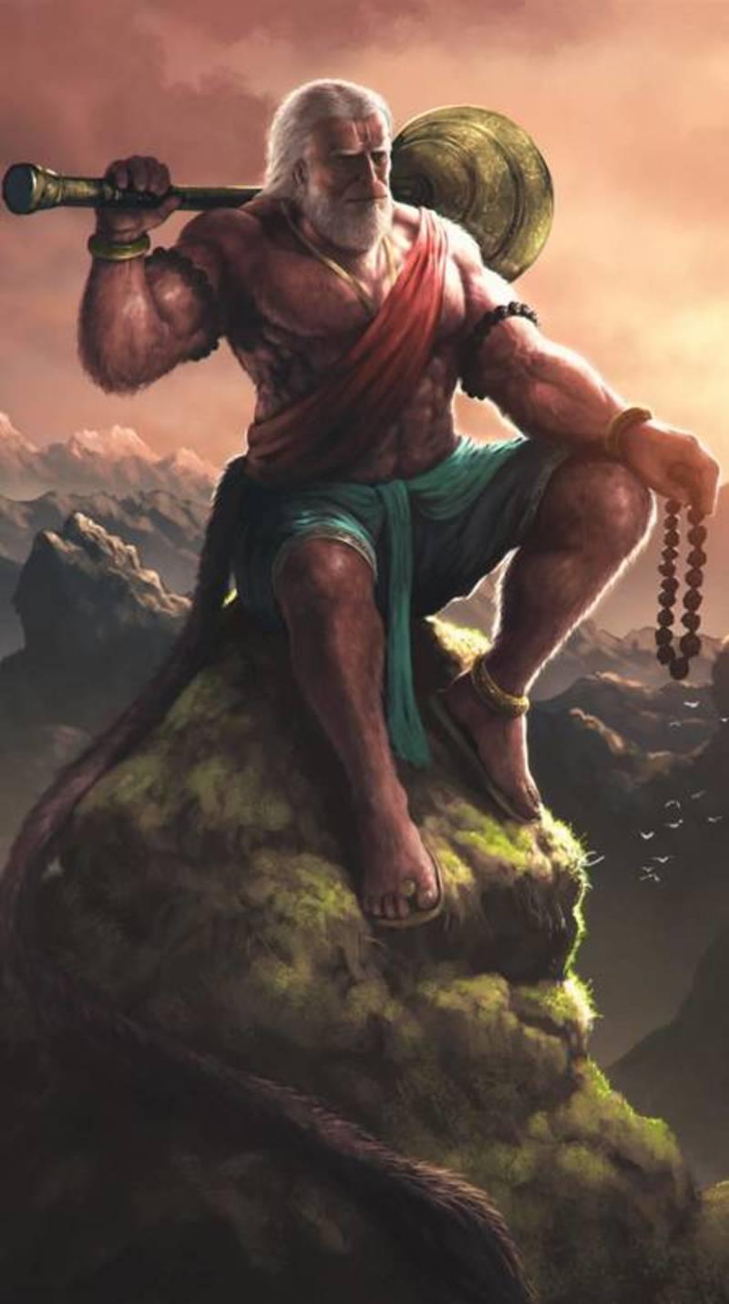 Hanuman Ji Art - 800x1430 Wallpaper ...