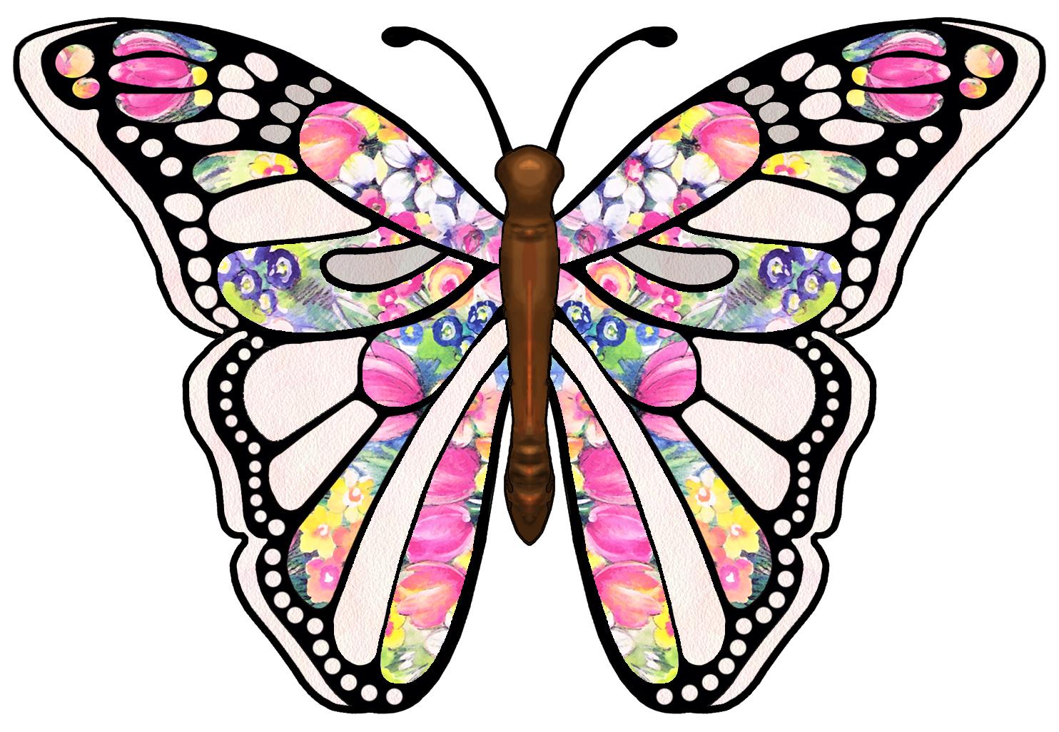 Butterfly Free Clip Art 1484x1026 Wallpaper Teahub Io