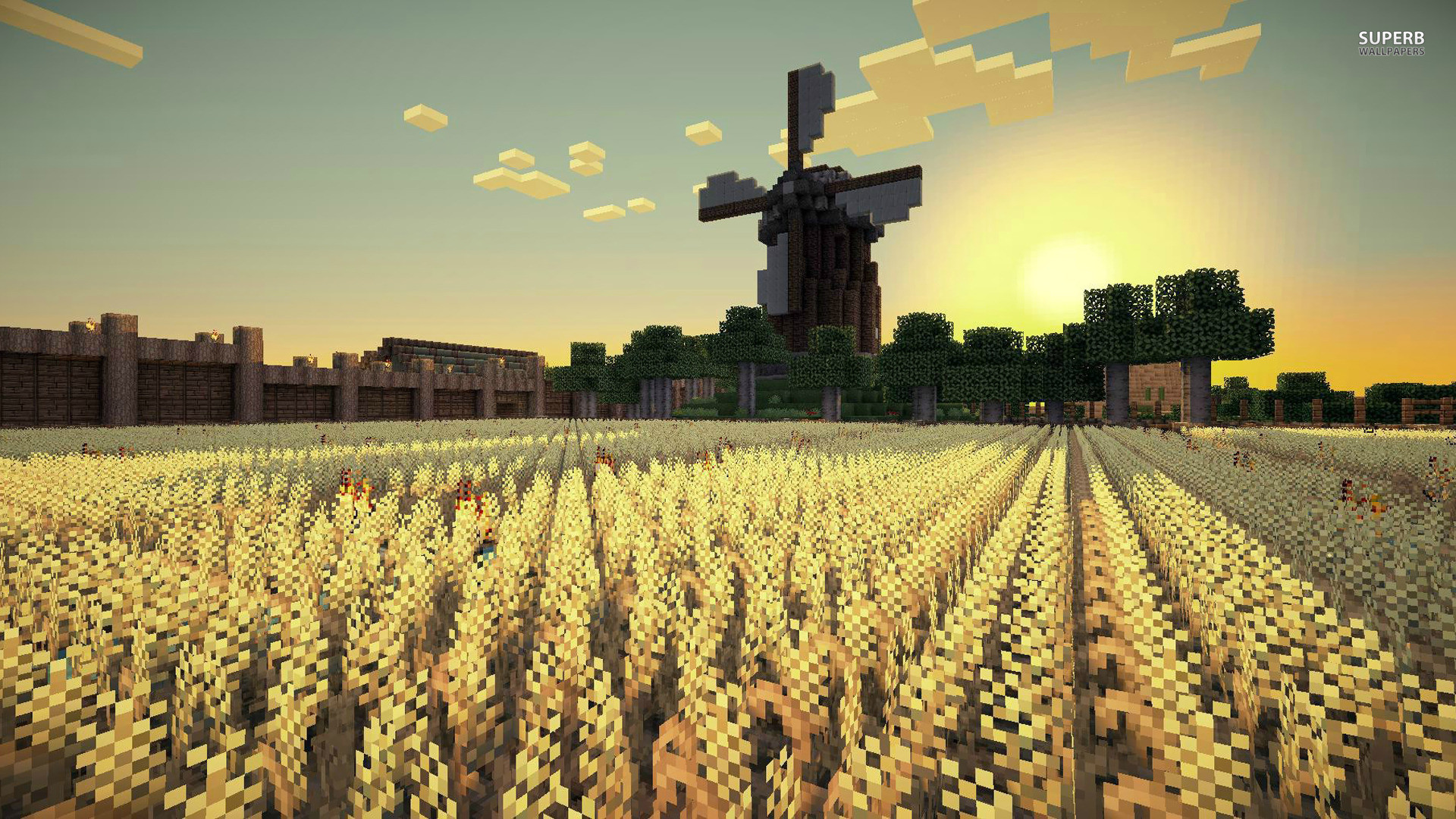 Minecraft Background Field Hd Background Wallpapers Background 4k Minecraft 1920x1080 Wallpaper Teahub Io