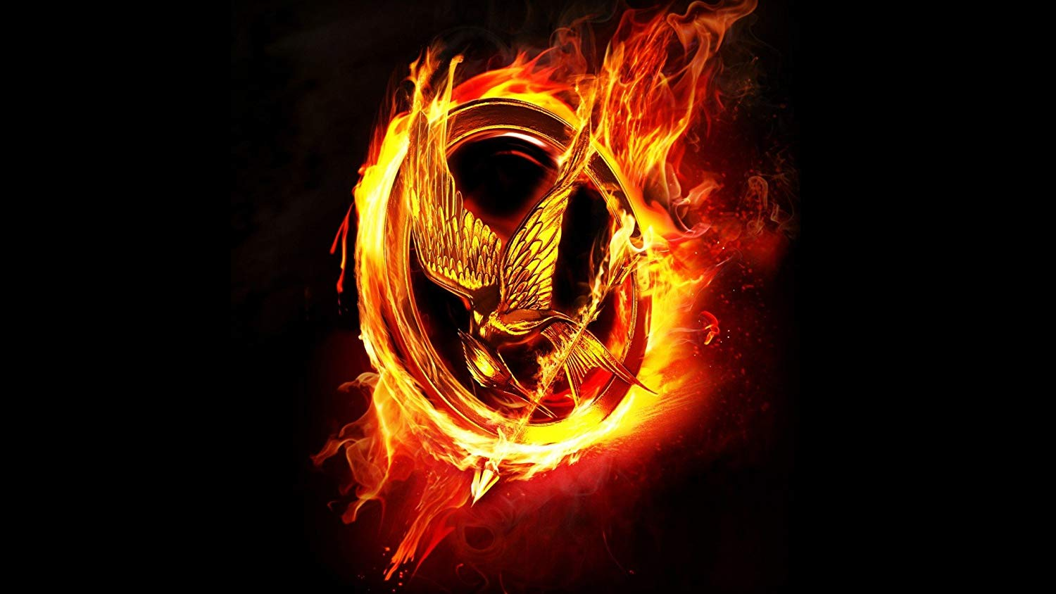 Posterhouzz Movie The Hunger Games Hbo Black Fire Flame Hunger Games Background 1500x844 Wallpaper Teahub Io