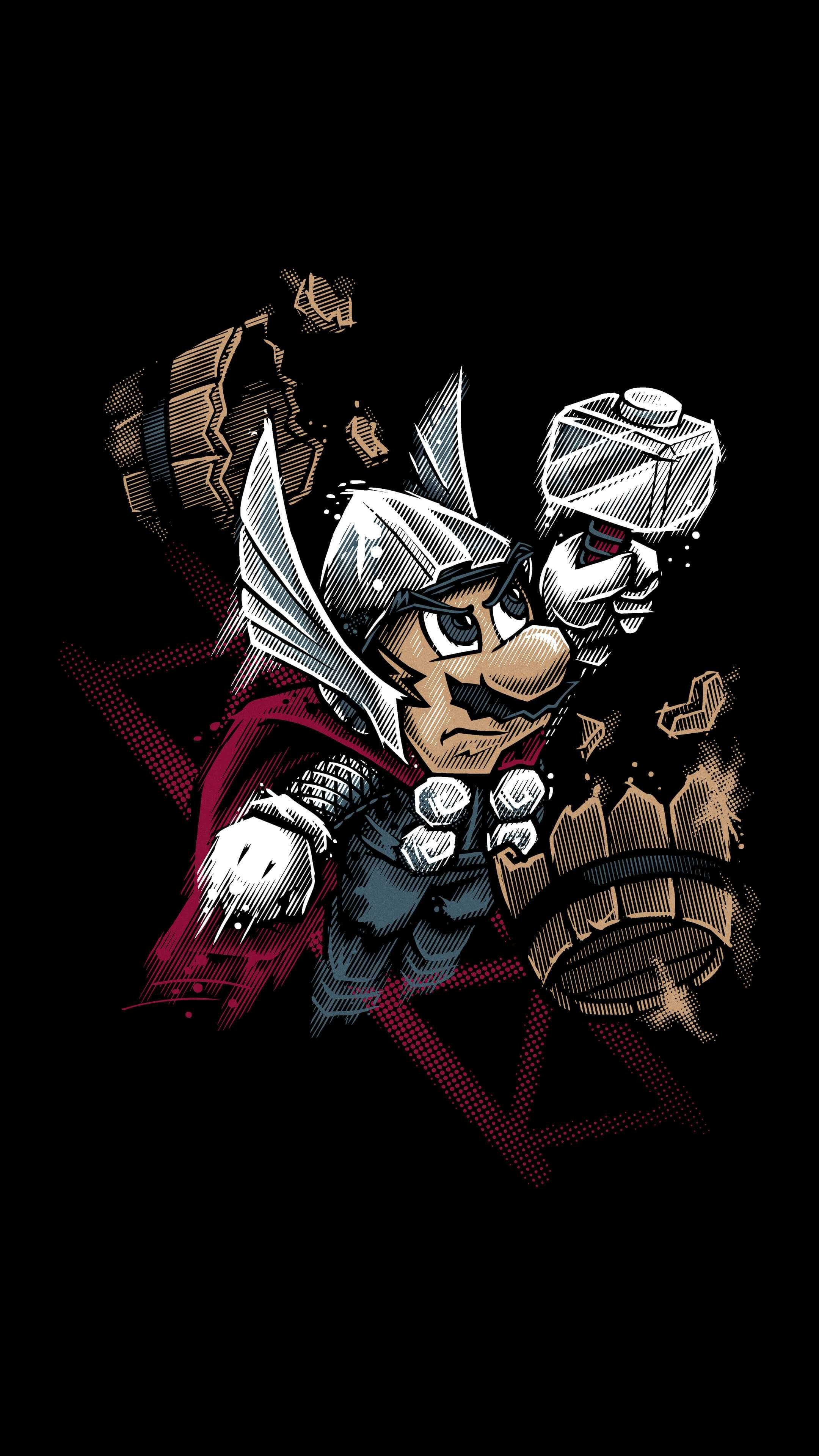 Super Mario Thor Iphone Wallpaper   Data Src Super - Mario Wallpaper Iphone Xs Max - HD Wallpaper