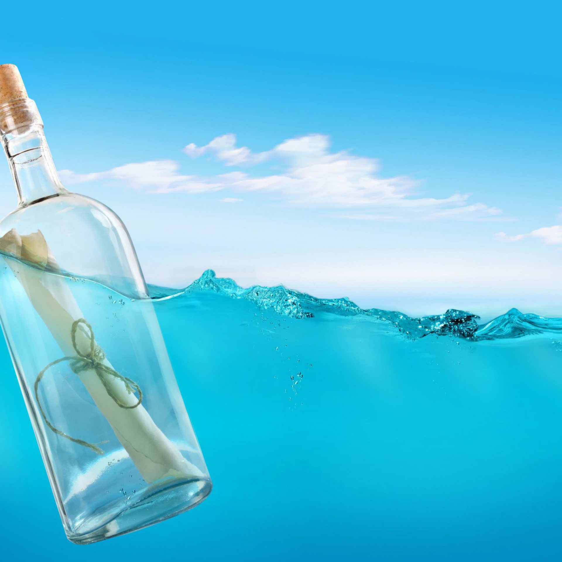 Samsung S6 Edge Wallpaper Hd 1080p Message In A Bottle Hd 1920x1920 Wallpaper Teahub Io