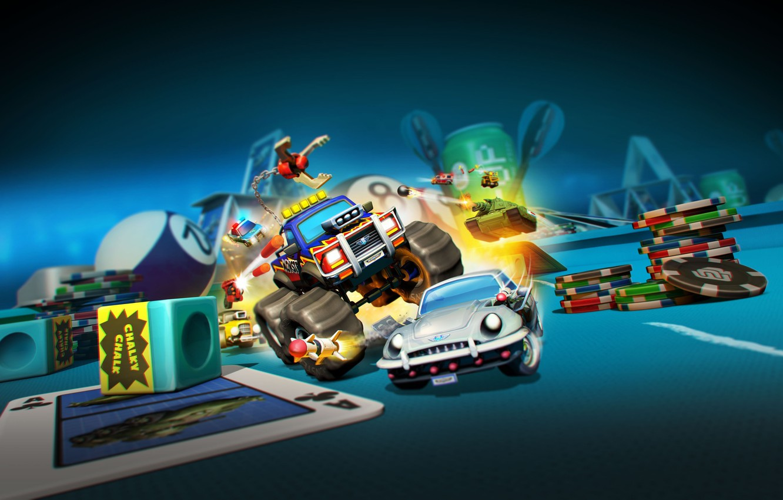 Photo Wallpaper Car, Game, Tank, Casino, Micro Machines - Nintendo Switch Micro Machines - HD Wallpaper