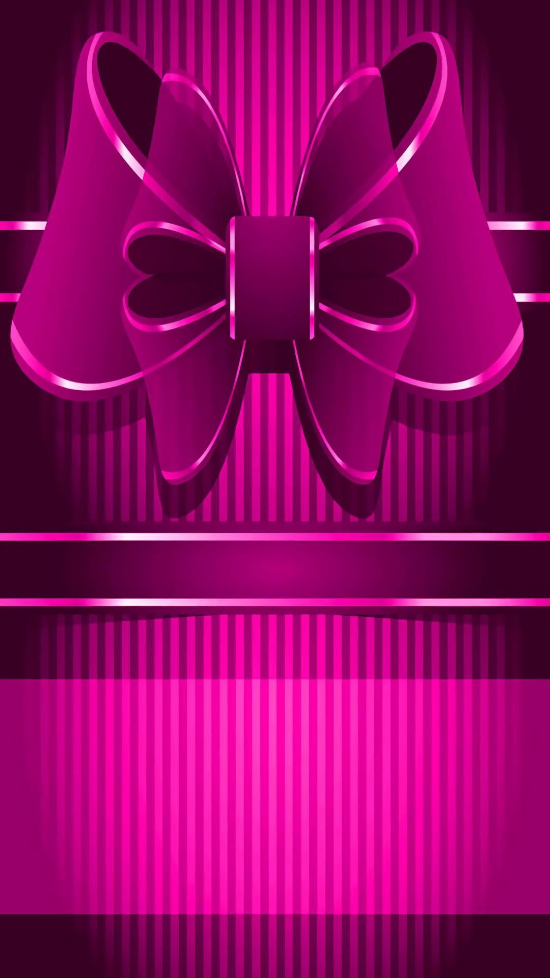 1080x1920, Bow Wallpaper, Wallpaper Backgrounds, Iphone - Iphone Wallpaper Bow Pink - HD Wallpaper
