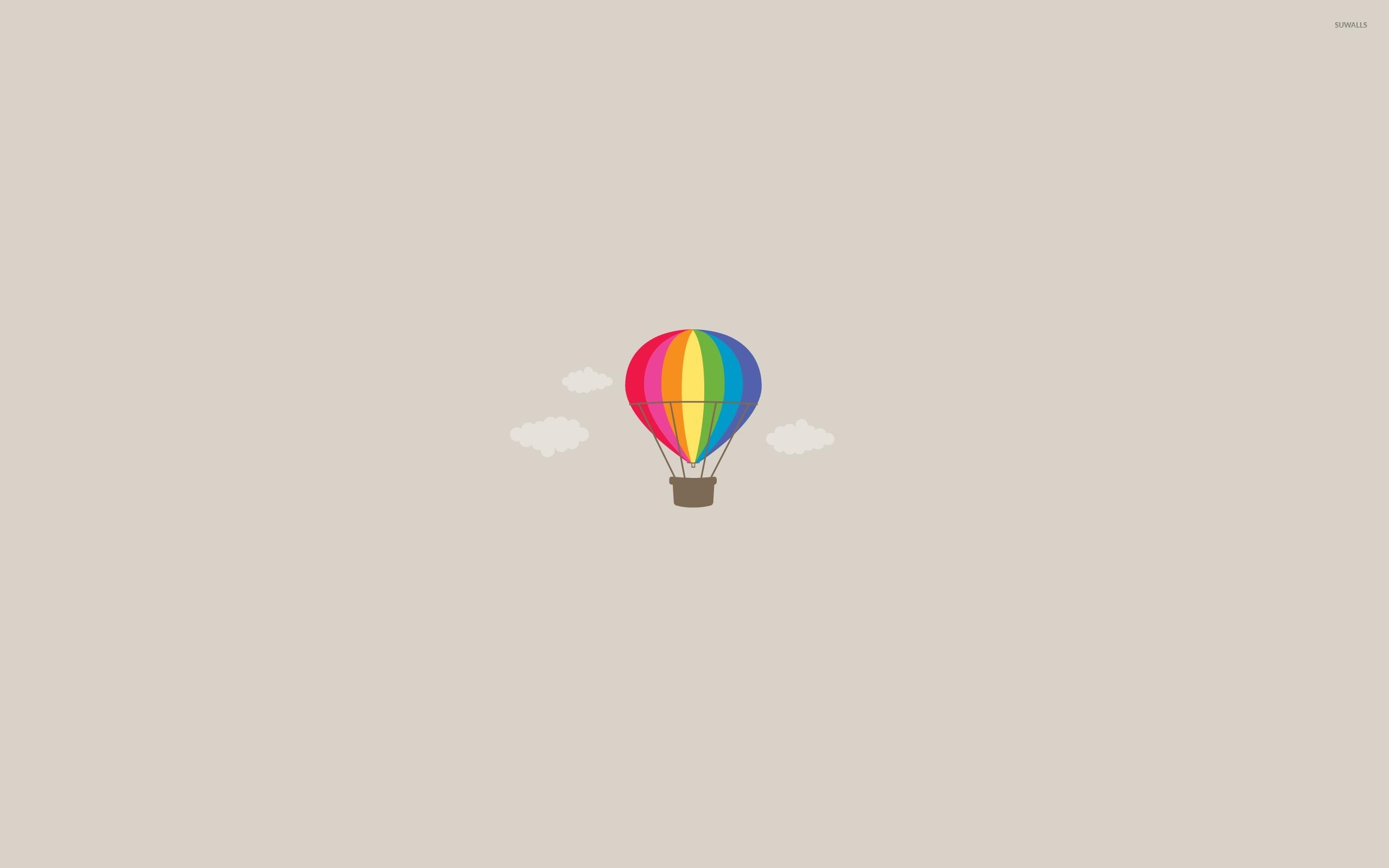 Hot Air Balloon Wallpaper Minimal - HD Wallpaper