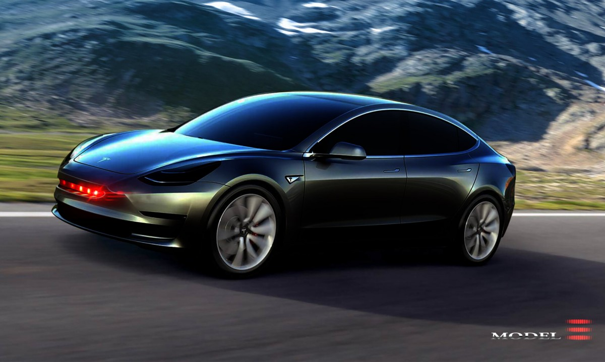 Model 3 Kitt Tesla Model 3 Knight Rider 1200x719 Wallpaper Teahub Io