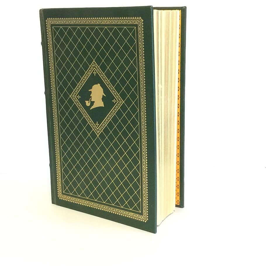 Green Hardbound Book, Sherlock Holmes Book, Vintage - Gucci Supreme Tote Vintage - HD Wallpaper
