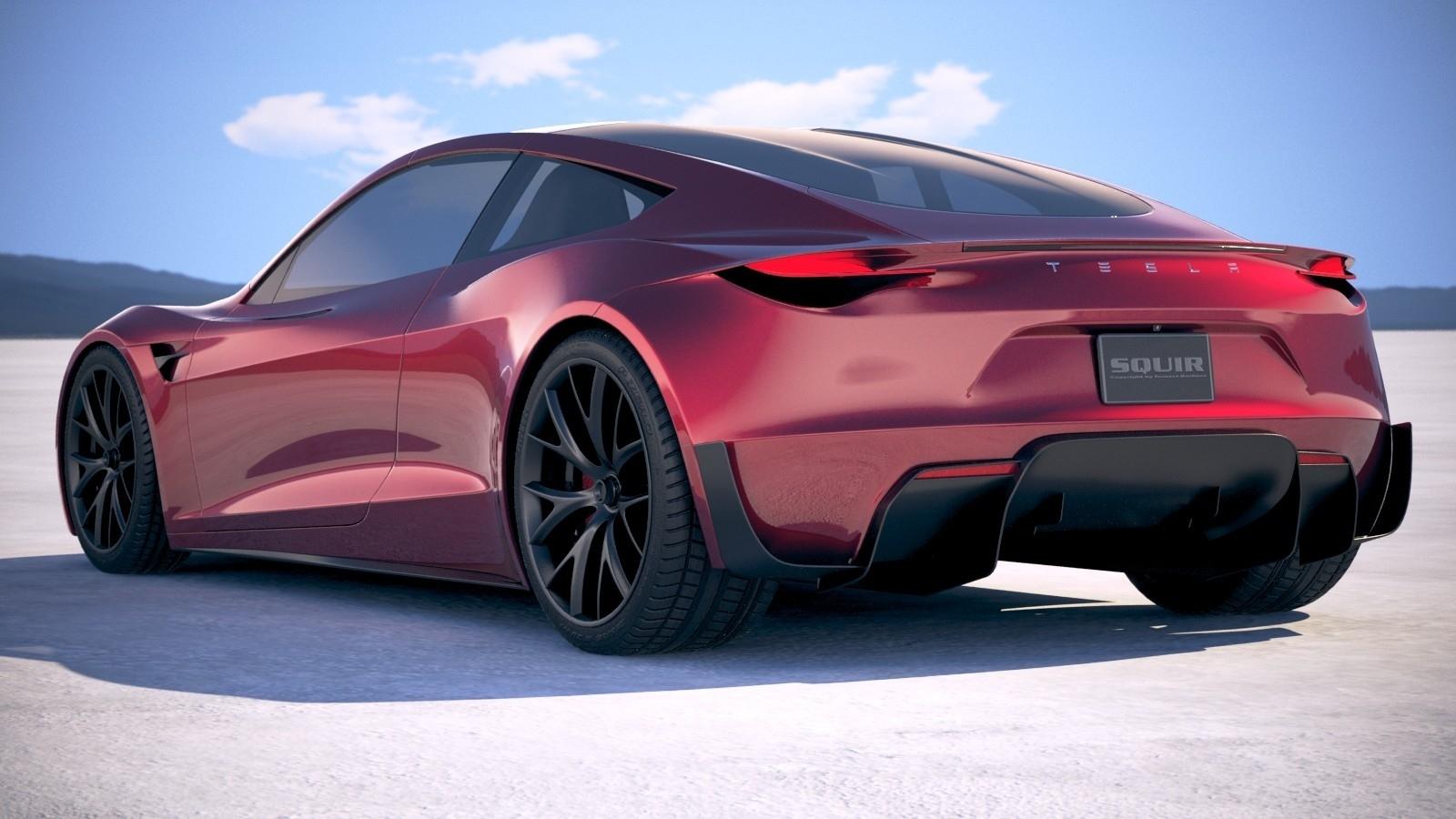 New 2020 Tesla Roadster Design High Resolution Wallpaper Tesla Roadster 2020 Back 1600x900 Wallpaper Teahub Io