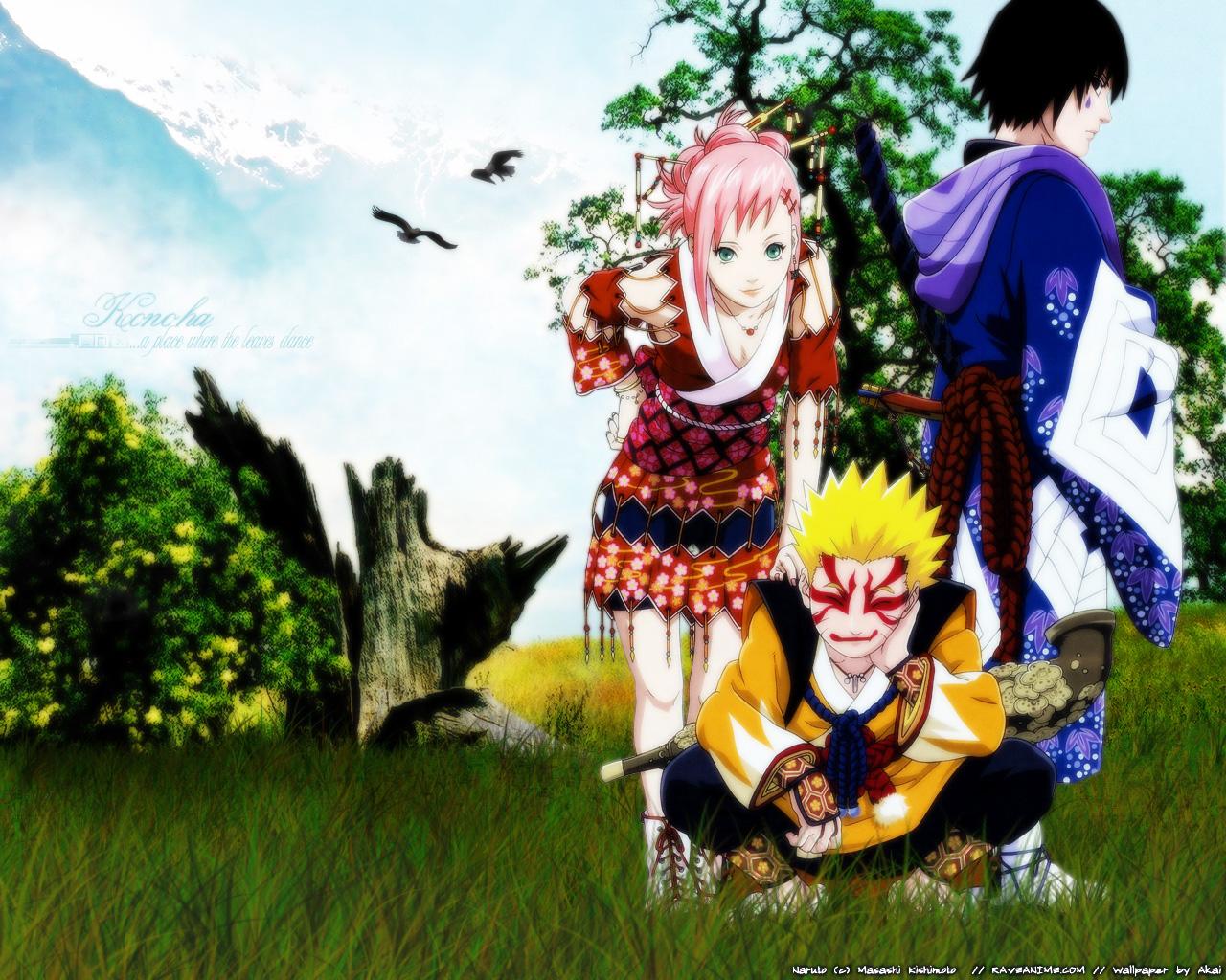 Masashi Kishimoto, Studio Pierrot, Naruto, Naruto Uzumaki, - Sakura Haruno Artbook - HD Wallpaper