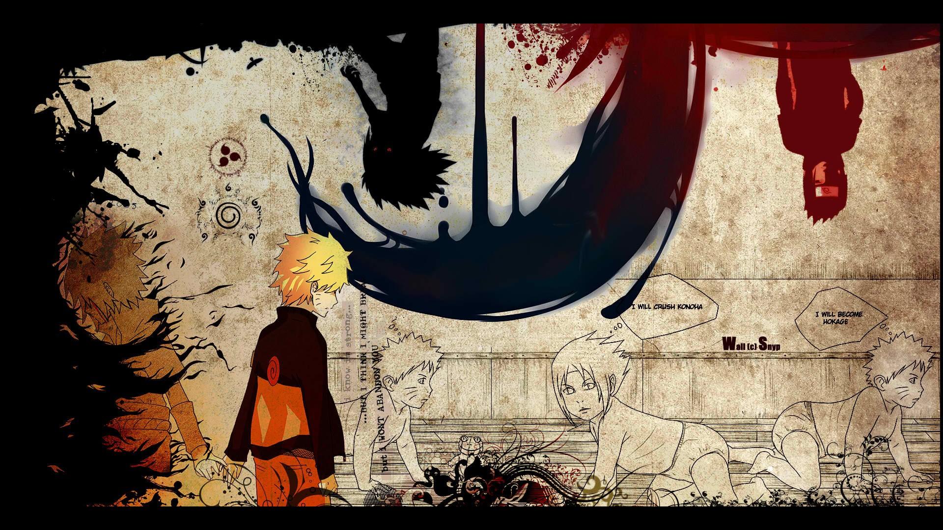 Silhouette Uchiha Sasuke Naruto Shippuden Uzumaki Anime - Imagenes De Naruto Shippuden 1080p - HD Wallpaper
