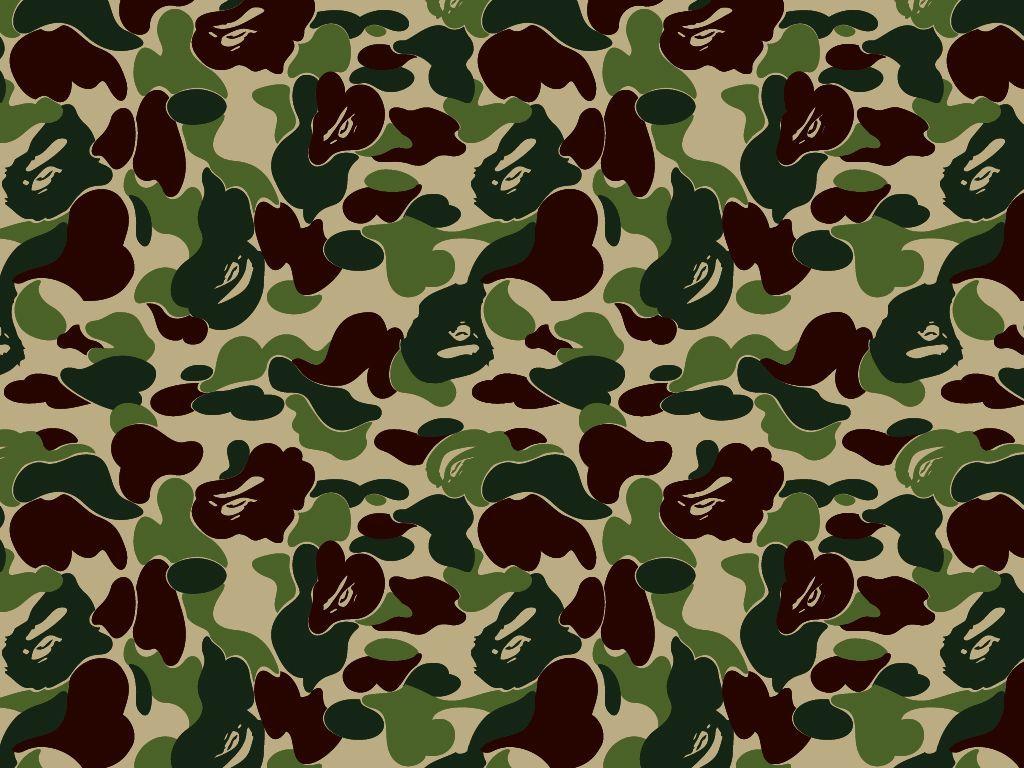 Bape Camo Background - HD Wallpaper